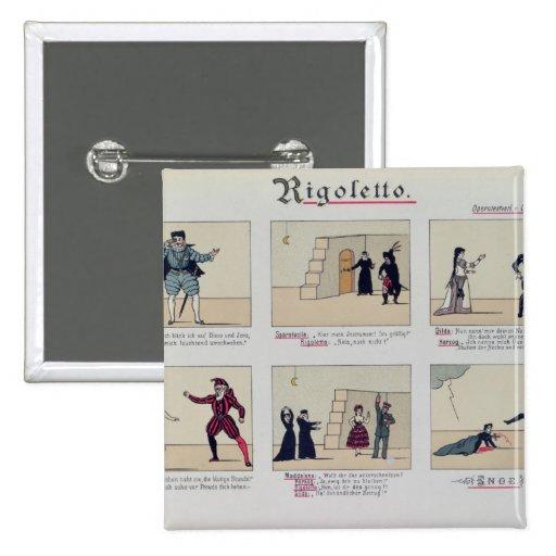 Scenes from the Opera 'Rigoletto' Pins