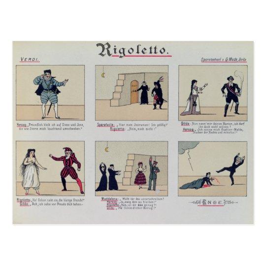 Scenes from the Opera 'Rigoletto' Postcard
