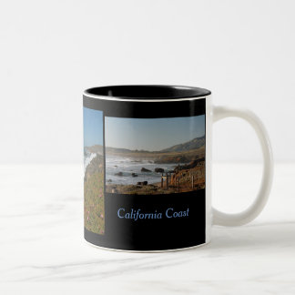 Scenes from the Pacific Coast Highway Two-Tone Coffee Mug