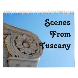 Scenes From Tuscany Calendar