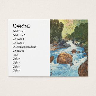Scenes in the Japan Alps, Kurobe River Yoshida art Business Card