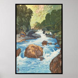 Scenes in the Japan Alps, Kurobe River Yoshida art Poster