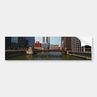 Scenes of Chicago Illinois Bumper Sticker