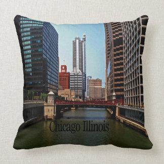 Scenes of Chicago Illinois Throw Pillows