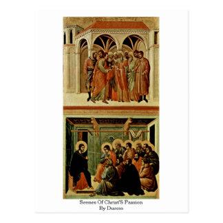 Scenes Of Christ'S Passion By Duccio Postcard