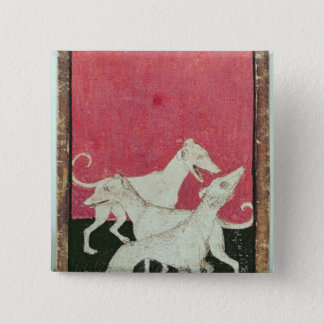 Scenes of courtly hawkin pinback button