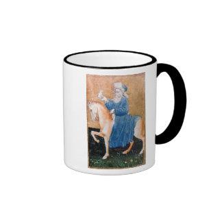 Scenes of courtly hawking coffee mugs