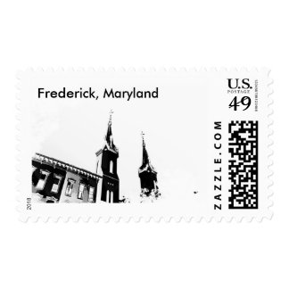 Scenes of Historical Frederick Maryland on stamps