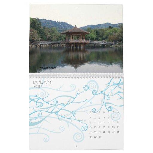Scenes of Japan 12 month calendar