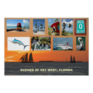 Scenes of Key West, Florida Posters