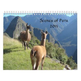 Scenes of Peru Calendar