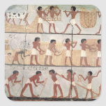 Scenes of sowing from the Tomb of Unsou Square Stickers