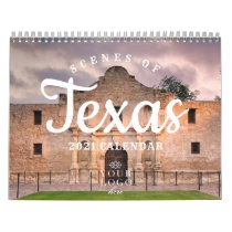Scenes of Texas 2021 Custom Logo Calendar