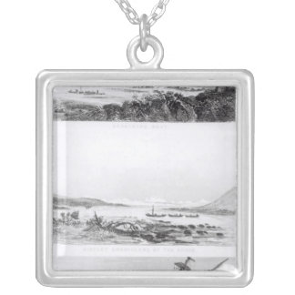 Scenes of the 'Beagle' being repaired Silver Plated Necklace