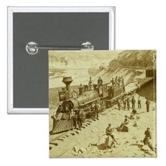 Scenes on the Union Pacific Railroad Button