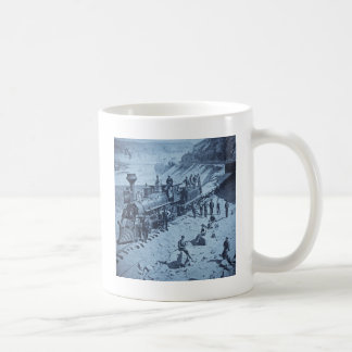 Scenes on the Union Pacific Railroad Cyan Coffee Mug
