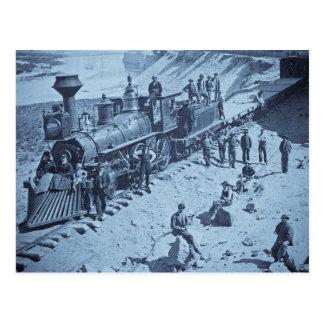 Scenes on the Union Pacific Railroad Cyan Postcard