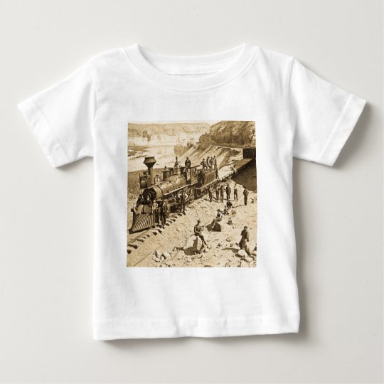 Scenes on the Union Pacific Railroad Sepia Baby T-Shirt