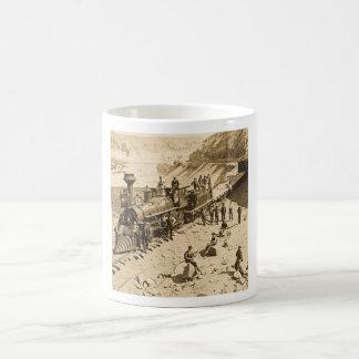 Scenes on the Union Pacific Railroad Sepia Coffee Mug