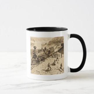 Scenes on the Union Pacific Railroad Sepia Mug
