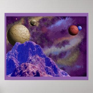 Scenic Alien Worlds Poster