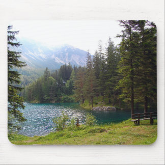 Scenic Alpine Forest and Lake Mouse Pad