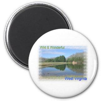 Scenic Appalachian Lake Magnet