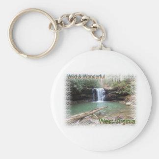 Scenic Appalachian Waterfall Keychain