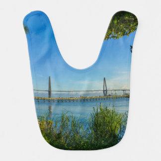 Scenic Arthur Ravenel Bridge Baby Bib