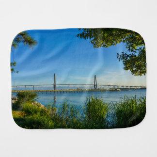 Scenic Arthur Ravenel Bridge Burp Cloth