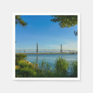 Scenic Arthur Ravenel Bridge Napkin