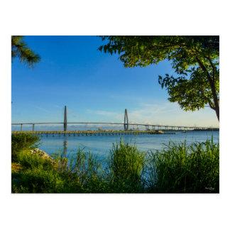 Scenic Arthur Ravenel Bridge Postcard