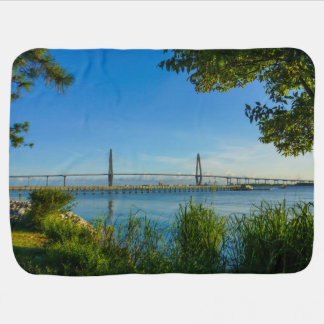 Scenic Arthur Ravenel Bridge Stroller Blanket