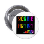 Scenic Artist Design On Black Background Buttons
