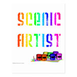 Scenic Artist (For Light Colored Products) Post Cards