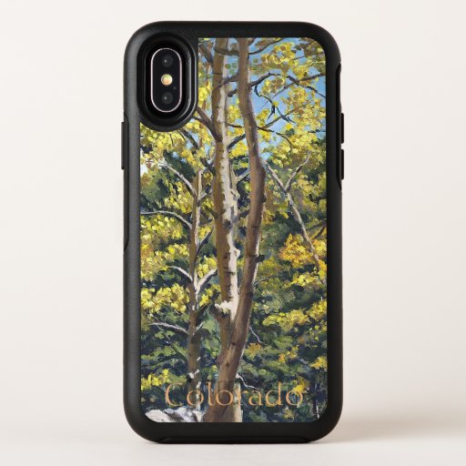 Scenic Aspen Trees in Estes National Park OtterBox Symmetry iPhone X Case