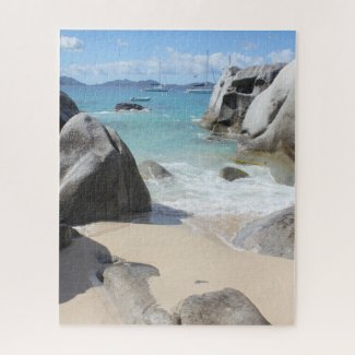 Scenic Beach at The Baths on Virgin Gorda, BVI Jigsaw Puzzle