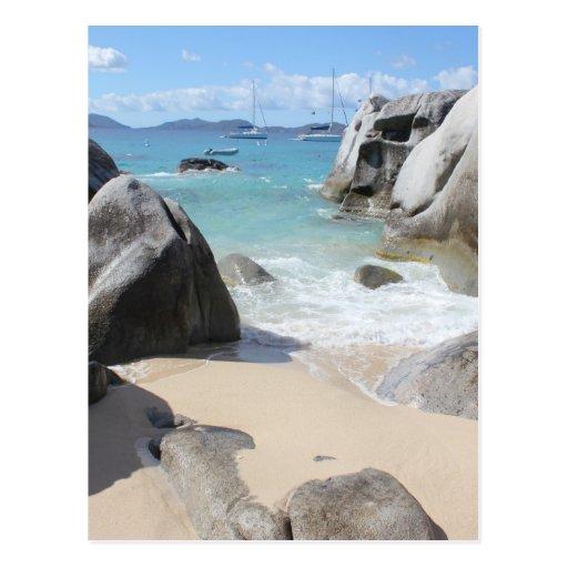 Scenic Beach at The Baths on Virgin Gorda, BVI Postcards