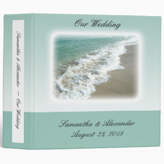 Scenic Beach Destination Wedding 3 Ring Binder