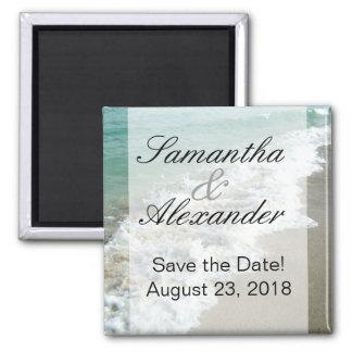 Scenic Beach Destination Wedding Save the Date Magnet