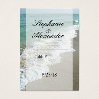 Scenic Beach Destination Wedding Table Place Cards