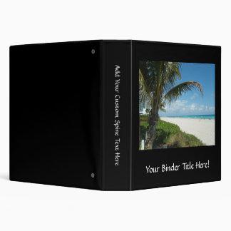 Scenic Beach, Side Palm Branch Vinyl Binder