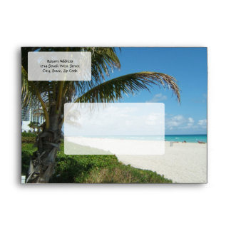 Scenic Beach, Side Palm Branch Envelope