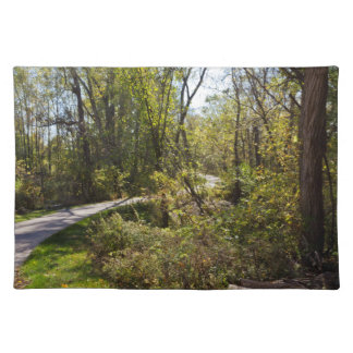 Scenic Bike Path in Iowa Photo Placemat