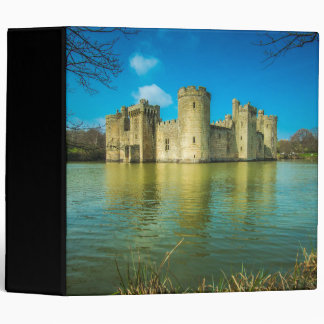 Scenic Bodiam Castle in East Sussex England 3 Ring Binder