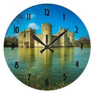 Scenic Bodiam Castle in East Sussex England Large Clock