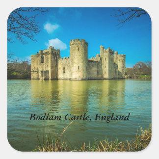 Scenic Bodiam Castle in East Sussex England Square Sticker