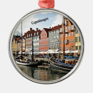 Scenic Canal in Copenhagen Christmas Tree Ornament