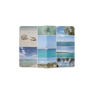 Scenic Caribbean Photo Collage Passport Holder