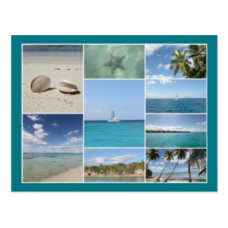 Scenic Caribbean Photo Collage Postcard